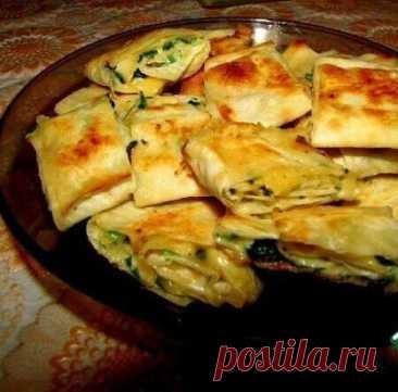 Лавашные рулетики с сыром и зеленью Ингредиенты
