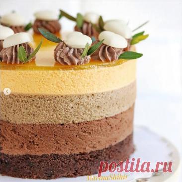 """Торт """"Три шоколада - Апельсин"""""""