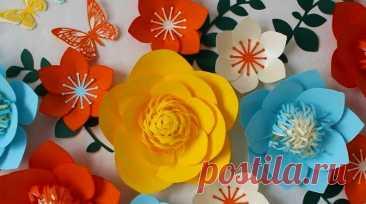 Цветы из бумаги своими руками — схемы и шаблоны Как сделать цветы из бумаги? Для Вас схемы и шаблоны изготовления цветов из бумаги своими руками на 8 марта, оригами, объёмные, для интерьера на стену.
