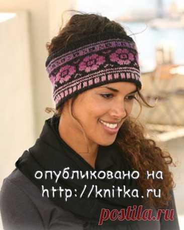 Повязка на голову спицами. Две схемы вязания повязки спицами., Вязание для женщин