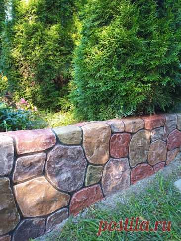 Наши руки не для скуки. Декорирование подпорной стены . | Уютный уголок | Яндекс Дзен