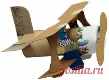 Самолеты из бумаги и картона своими руками. Подарок папе