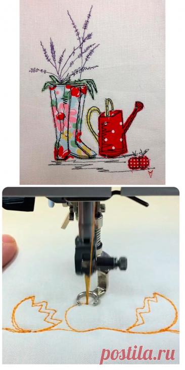 Свободно-ходовая машинная вышивка (или живопись иглой)   Рукоделие от OvechkaMaster.ru   Яндекс Дзен