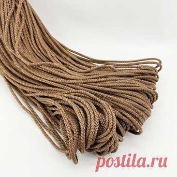 Цветной шнур с сердечником для вязания 4 мм 100 м коричневый