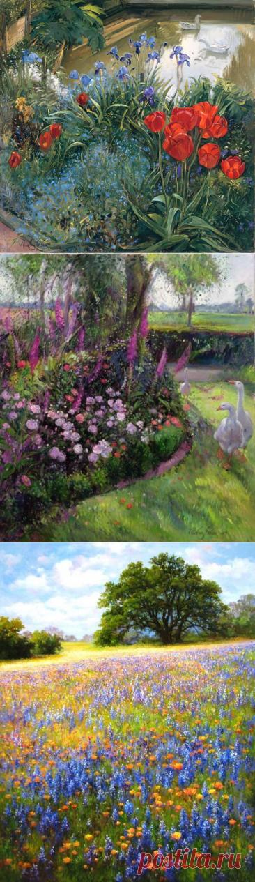 Разноцветная весна. Художник Тимоти Истон.