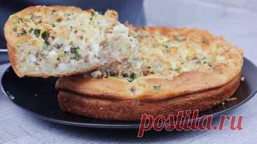 Бюджетный и вкусный заливной пирог с рыбными консервами. Сытный пирог на кефире без заморочек. | Кулинарка | Яндекс Дзен
