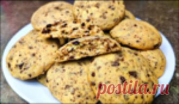 Очень вкусный проверенный рецепт печенья с шоколадом - рекомендую всем попробовать