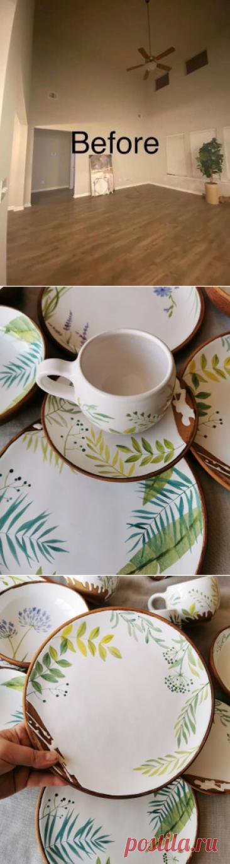 Роспись керамической посуды ручной работы от талантливой Юлии Осока, есть,... | Интересный контент в группе Гнездышко
