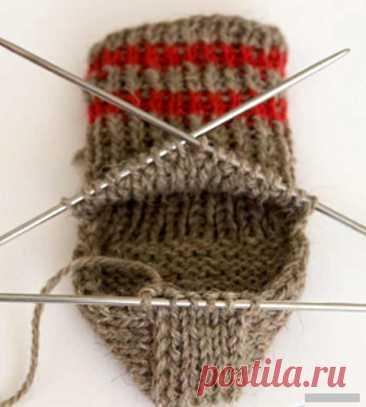 Как вязать пятку носка (Вязание спицами) – Журнал Вдохновение Рукодельницы