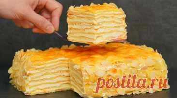 Вкуснейший домашний торт Пломбир. Для всех любителей торта Наполеон и Карпатка — 1lyubov.ru