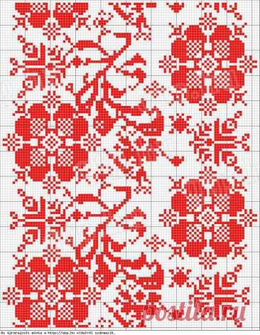 Вышивка крестиком: цветочно- орнаментальные схемы Вышивка крестиком: цветочно- орнаментальные схемыС помощью таких схем часто создаютсярушники и вышиванки.