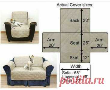 Выкройка накидки на диван