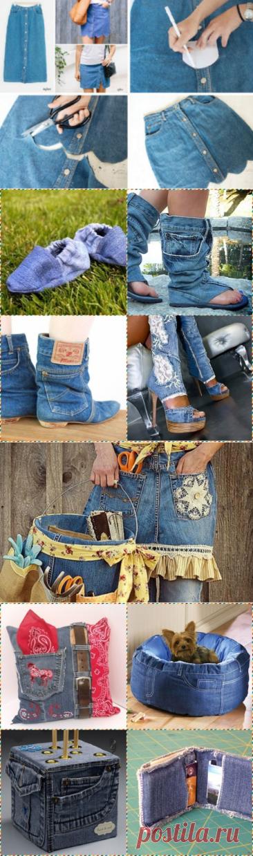 Que hacer de la ropa vieja jeans... ¡60 Ideas!