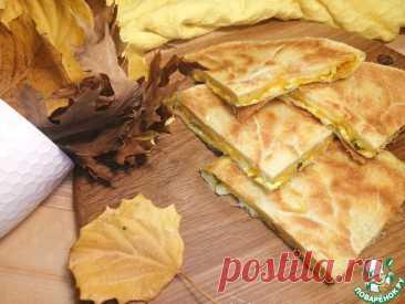 Лепешка с тыквой и сыром Кулинарный рецепт