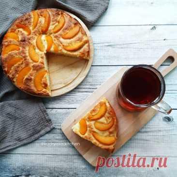Пирог с рикоттой и консервированными персиками | Кудряха на кухне | Яндекс Дзен