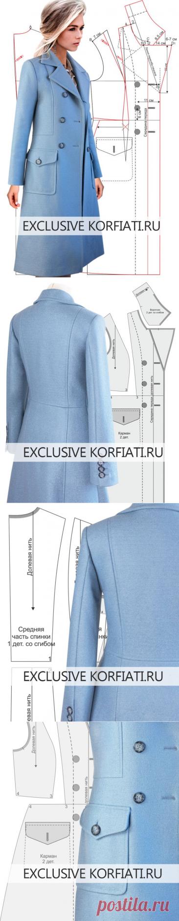 Выкройка демисезонного пальто от Анастасии Корфиати