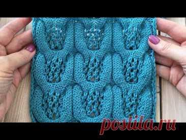 Ажурные жгуты Шикарный узор для кардигана или свитера