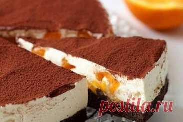 Супер-идея – торт-тирамису с апельсинами и темным шоколадом