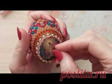 Пасхальное яйцо из бисера мастер-класс. Easter egg made of beads