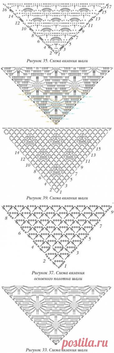 Схема для шали крючком
