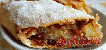 Венский яблочный штрудель – идеальный десерт!