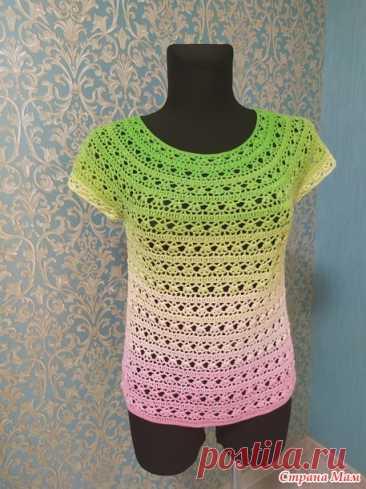 Топ из ниток Розенгарден от Yarn Art для себя любимой - Вязание - Страна Мам