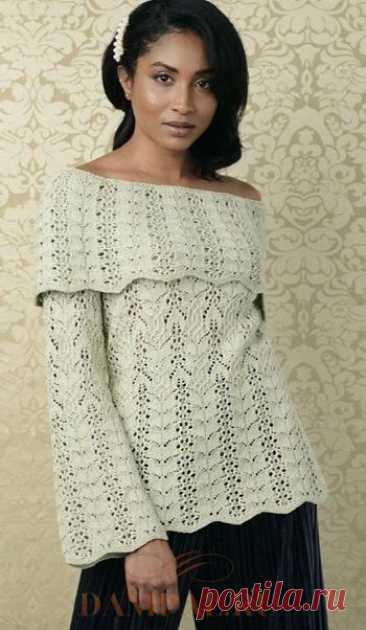 Пуловер с открытыми плечами «Coquilles»