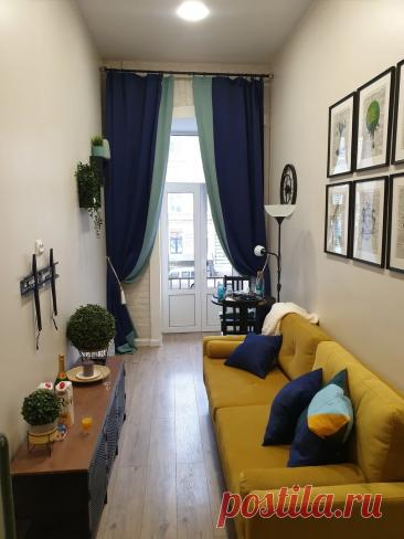 Узкая квартира, шириной всего 2 метра, с кроватью под потолком и ярким диваном   Мамин дизайнер   Яндекс Дзен