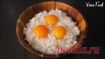 Перемешиваю РИС с ЯЙЦОМ   Корейская уличная еда   Жареный рис с яйцом Рецепт простого и быстрого гарнира, распространённого во многих странах Азии. Отлично сочетается с курицей/мясом/рыбой в любом соусе. Приятного аппетита!Ингредиенты:яйцо - 3 штотваренный рис - 200 гшампиньоны - 4 штморковь - 1 штзамороженный горох - 70 грастительное маслоПодробный видео...