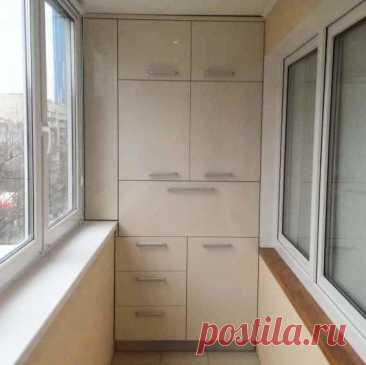 Как красиво сделать шкаф на балконе: фото дизайна пространства