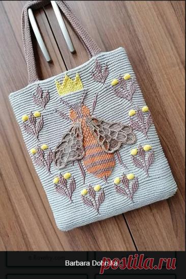 Классная идея для сумок и других аксессуаров   Вязание в радость   Яндекс Дзен