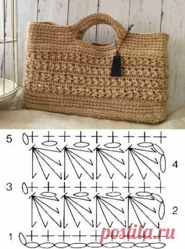 20 узоров крючком для летних сумок - Сам себе мастер - медиаплатформа МирТесен