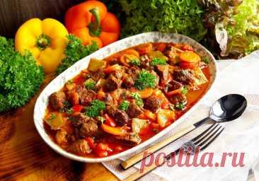 Мясо с стручковой фасолью на сковороде рецепт с фото пошагово - 1000.menu