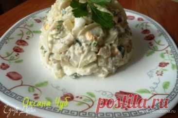 Салат с солеными груздями , пошаговый рецепт на 1410 ккал, фото, ингредиенты - Оксана Чуб