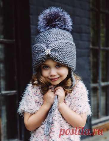 Как связать шапку спицами для девочки: схемы, описание, фото и видео