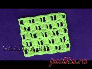Ажурный узор Пышные квадратики   Openwork pattern Lush squares