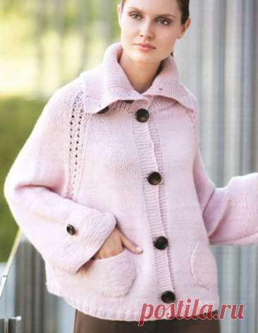 Жакет спицами для полных женщин платочной вязкой – 7 моделей со схемами и описанием — Пошивчик одежды