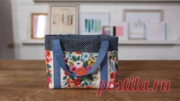 Как сделать простую сумку с шестью карманами