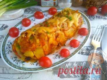 Картофельный рулет с грибами. Оригинальный рецепт приготовления - Пошаговые рецепты без мяса, без дрожжей, без муки, без яиц Интересный рецепт картофельного рулета с грибами и изящная подача. Бюджетное блюдо без мяса, аппетитное и красивое.
