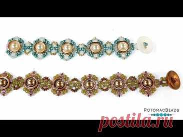 Laura Bracelet - DIY Jewelry Making Tutorial by PotomacBeads