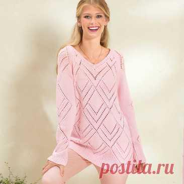 Пуловер с большими ажурными ромбами спицами – 4 схемы с описанием в нежных оттенках - Пошивчик одежды Представленные в статье пуловер, джемпера и свитер определенно понравятся девушкам. Каждая модель по-своему хороша. Нежная ажурность на больших ромбах