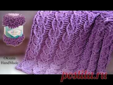 Сердечный плед из Alize Puffy Fine Ombre Batik. Crochet pattern