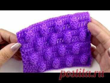 Объемный узор крючком Мороженое   Volumetric crochet pattern Ice cream