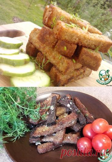 Гренки на луковом масле с укропом – кулинарный рецепт