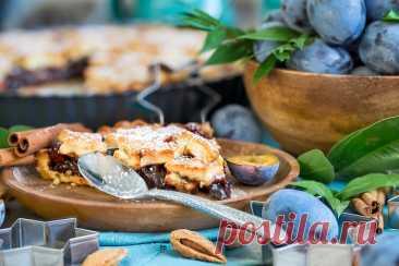 Пряный тарт со сливами и миндалём - Рыжая книга кухонных пределов — LiveJournal