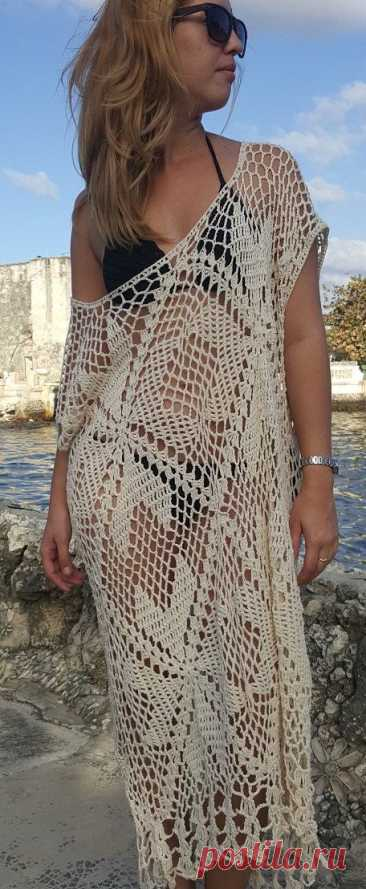 summer crochet dress by OmyFashions on Etsy | МОТИВЫ.