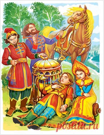 Красочные иллюстрации к русским сказкам Виктора Служаева