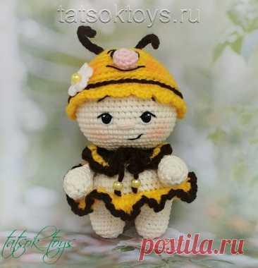 Малышка Пчелка амигуруми: мастер-класс | Амигуруми