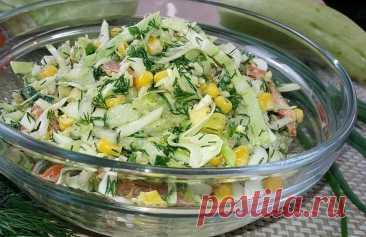 Салат из молодой капусты, без майонеза: соскучились?