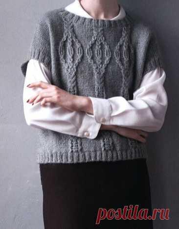 Очередная содержательная подборка вязаных жилетов + мастер-класс популярного узора спицами.   Asha. Вязание и дизайн.🌶   Яндекс Дзен